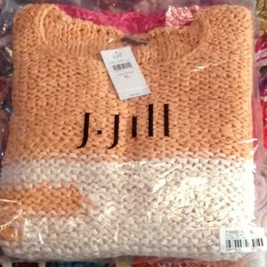 J. Jill XL multi crew neck sweater-3/4 sleeve-NWT